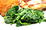 Fresh Organic Spinach as a Side Dish
