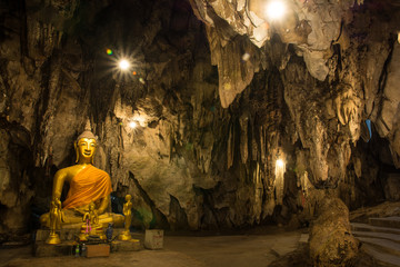 Buddha in a cave, eliminating the devil