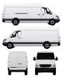 White Commercial Vehicle - Van No 2 - 61989735