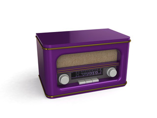 Retro radio 3d illustration