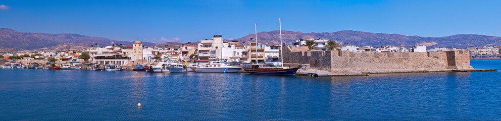 Panoramic view of fortress at Ierapetra in Crete, Greece.