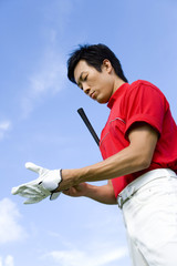 Japanese male golfer