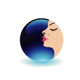 Blue moon lady- Logo for beauty salons