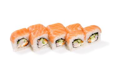 salmon crab rolls