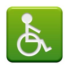 Grüner Button: Rollstuhlsymbol
