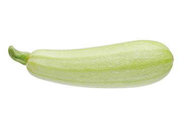 Fresh marrow vegetable. Isolated on white background