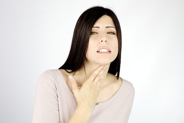 Woman almost not able to breeze because of asthma