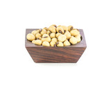 Soybeans in wood bowl
