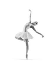Czarny i biały ślad młodej baletnicą