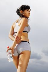 beautiful athletic woman
