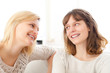 Complicity scene beetwen two girls best friends - Friendship con