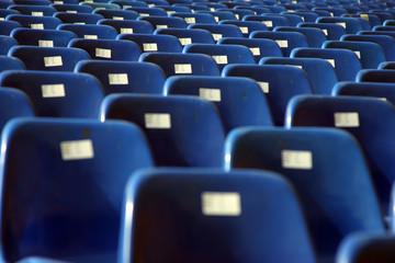 Tribünen-Sitze/Arena/Stadion blau