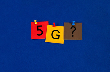 5G, sign series for mobiles, phones and the internet.