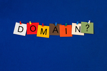 Domain, sign series for computer terms, web and the internet.