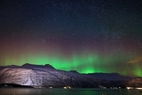 Fototapeta Night sky in winter Norway : Aurora Borealis