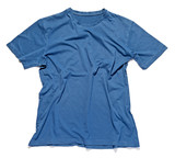 Rumpled and crinkled blue cotton t-shirt poster