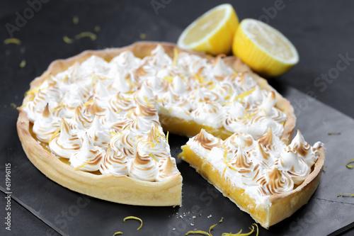 Papiers peints Dessert part de citron meringuée 2