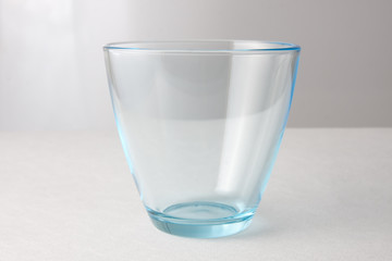 water glass on a white background.