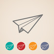 set of paper plane icons