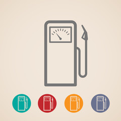 set of gas pump icons