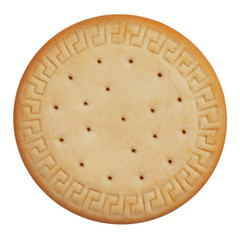 Round cookies on a white background