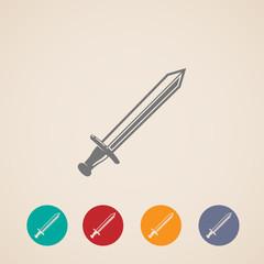 set of sword icons