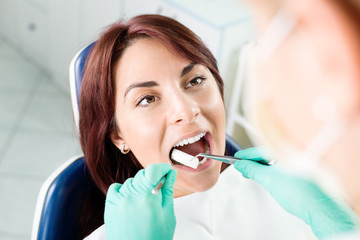 Preparing patient for dental treatment