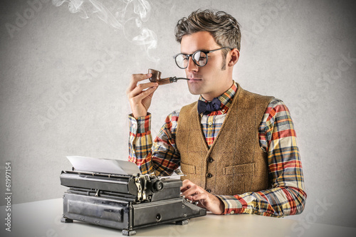 smoking writer