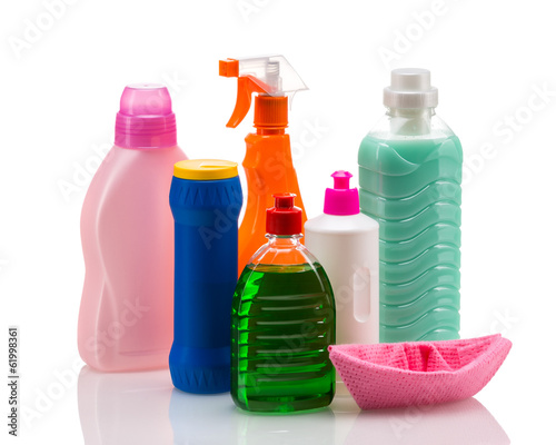 Cleaning product plastic container for house clean