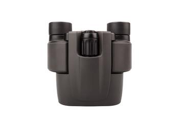 Black binocular, isolated on white background