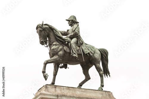 Statue of General Dufour on the horse, isolated, Geneva, Switzer