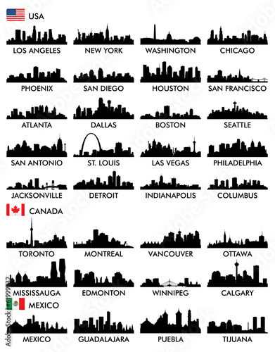 City skyline North America poster