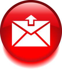 Круглый векторный знак с изображением письма