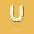 Low Poly Alphabet Letter U