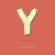 Low Poly Alphabet Letter Y