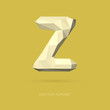 Low Poly Alphabet Letter Z