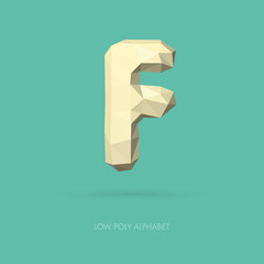 Low Poly Alphabet Letter F