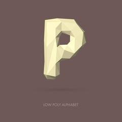 Low Poly Alphabet Letter P