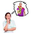 Frau wünscht sich Blumen