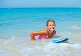 Summer vacation - surfer girl.