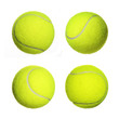 Tennis Ball Collection isolated on white background. Closeup - 62001527