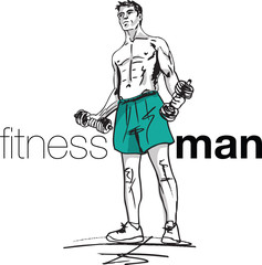 Fitness man illustration