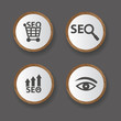 Search engine icons,vector