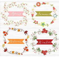 4 stagioni: primavera, estate, autunno, inverno