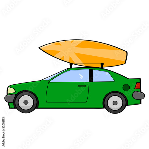 Surfer car