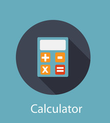 Calculator Flat Concept Icon Vector Illustration