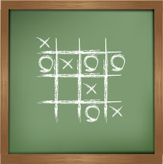 O,X game sign,Vector