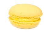 Yellow French Macaroon Isolated On White