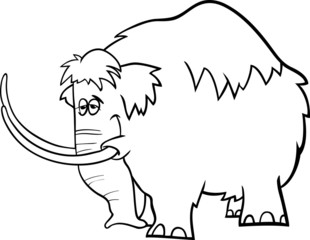 mammoth cartoon coloring page