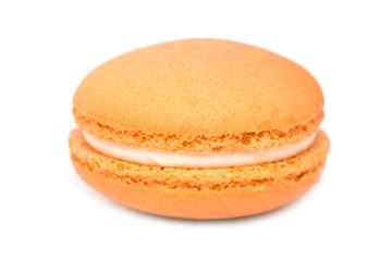 Orange French Macaroon Isolated On White